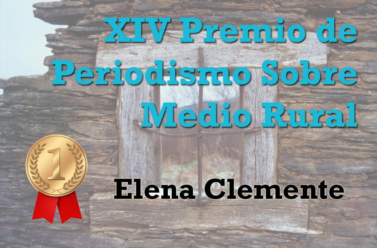 Elena Clemente, ganadora de la decimocuarta edición del Premio de Periodismo Sobre Medio Rural